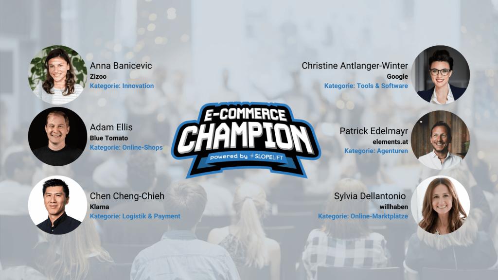 Die Sieger in den sechs Kategorien der E-Commerce-Champions 2019